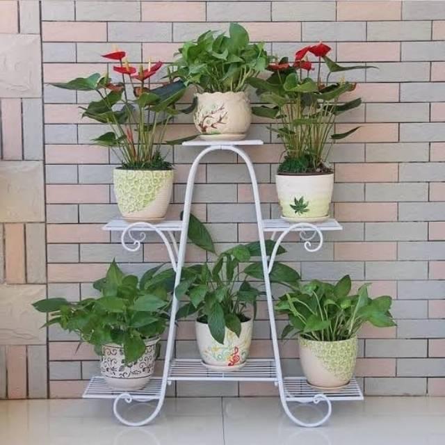 Rak Pot Bunga Besi Rak Pot Besi Rak Bunga Shopee Indonesia