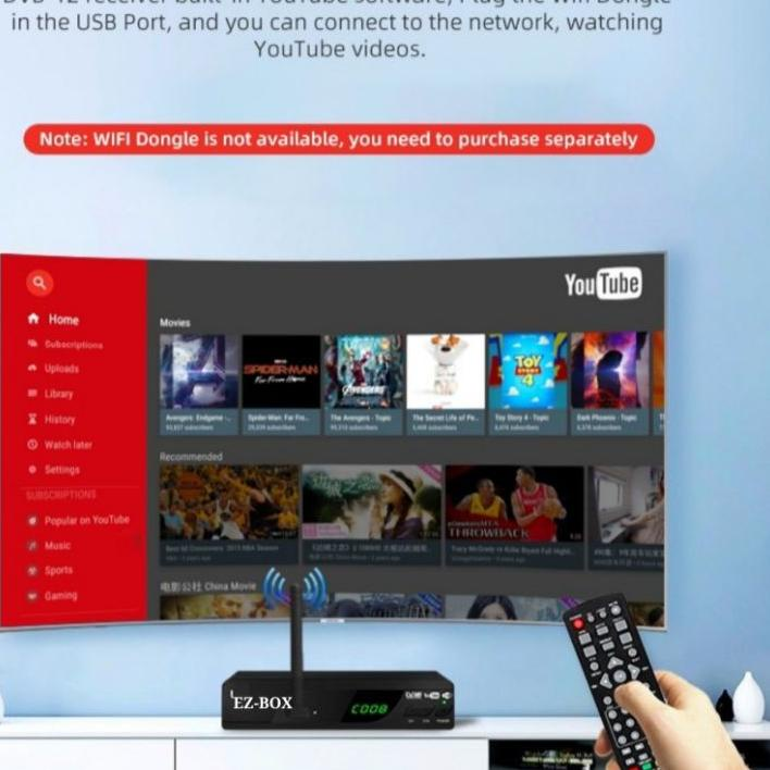 Import Terlaris EZ-BOX SET TOP BOX DVB-T2 PENERIMA SIARAN TELEVISI DIGITAL YOUTUBE WIFI
