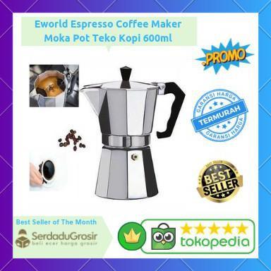 Moka Pot 12 Cup Espresso Coffee Maker Teko Alat Seduh Buat Kopi 600ml Free Ongkir Kode 1060 Shopee Indonesia