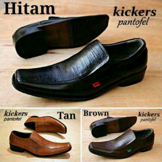 Sepatu Pantofel Pria Formal Kulit Asli Hand Made Model Slip On 073HT  Outsole Rubber Anti Slip  a7b1c6c619