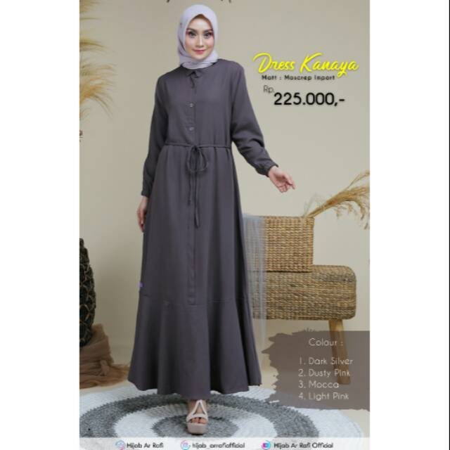 Gamis Dress Kanaya By Arrafi Shopee Indonesia