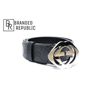 c1eb890a3 GUCCI GUCCISIMA BELT WITH SQUARE G BUCKLE | Shopee Indonesia