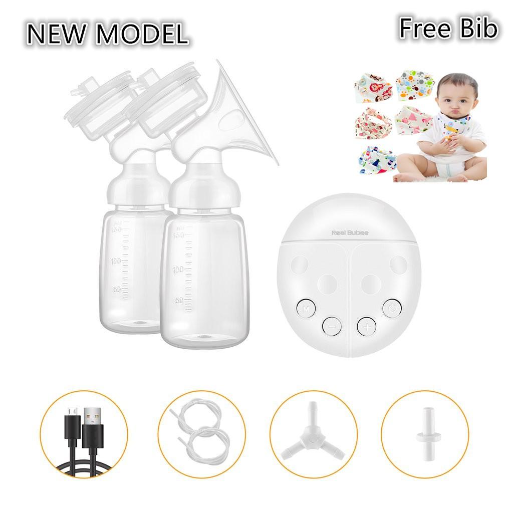 [Ready Free Bib] Packing Bubble Wrap Real Bubee Pompa ASI Elektrik Otomatis 2 Botol Susu Breastpump | Shopee Indonesia