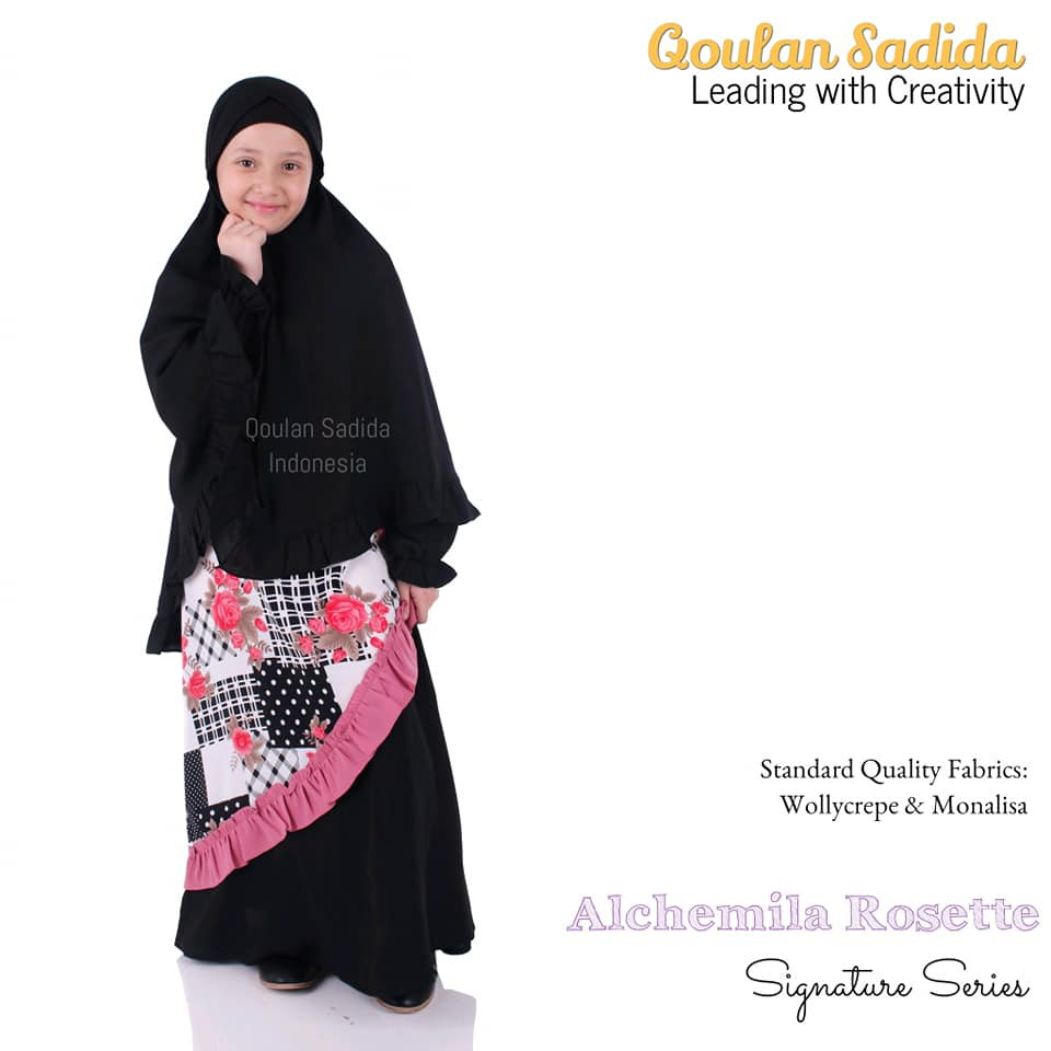 Gamis Anak Alchemila Rosette Signature Series by Qoulan Sadida