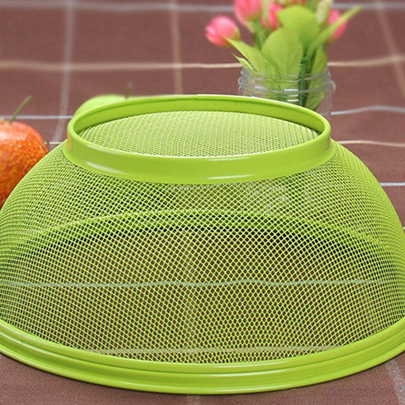 Random Color Mesh Iron Fruit Basket Kitchen Rack Storage Dining Table Decoration Shopee Indonesia