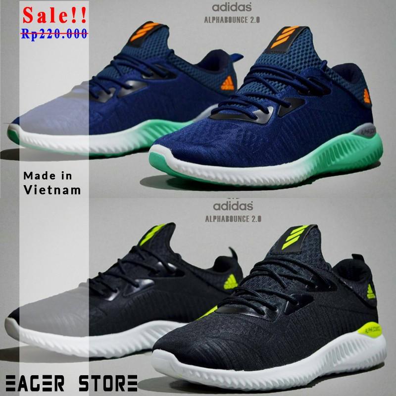 Sepatu Sneakers Olahraga Model Adidas Alphabounce Beyond 2018 Warna Abu-Abu  untuk Pria  1f705343dd