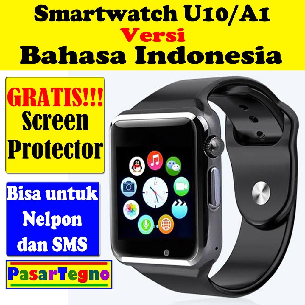 Jam Hp Smartwatch U10 A1 Smart Watch Bisa Pakai Sim Card Dan Onix Full Black Memory Shopee Indonesia