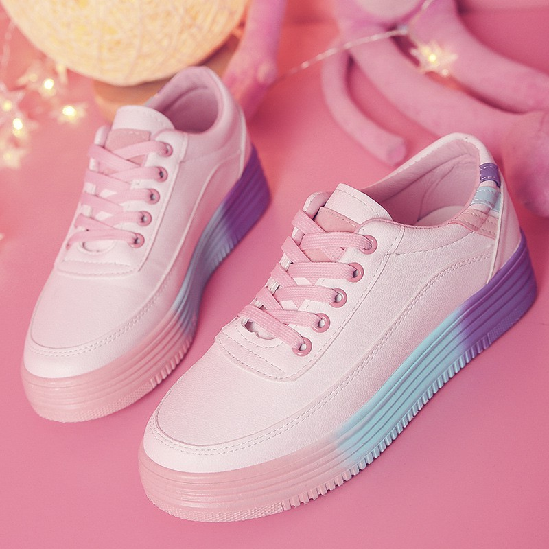 Sl613 Pink Red Sepatu Sneakers Import Sepatu Wanita Murah Sepatu