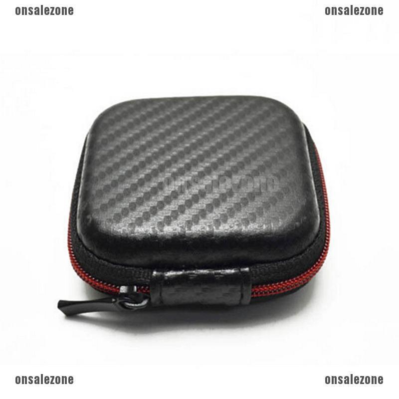 Portable Hard Case Pouch Storage Bag For Earphone Headphone Earbuds Cable SD TF