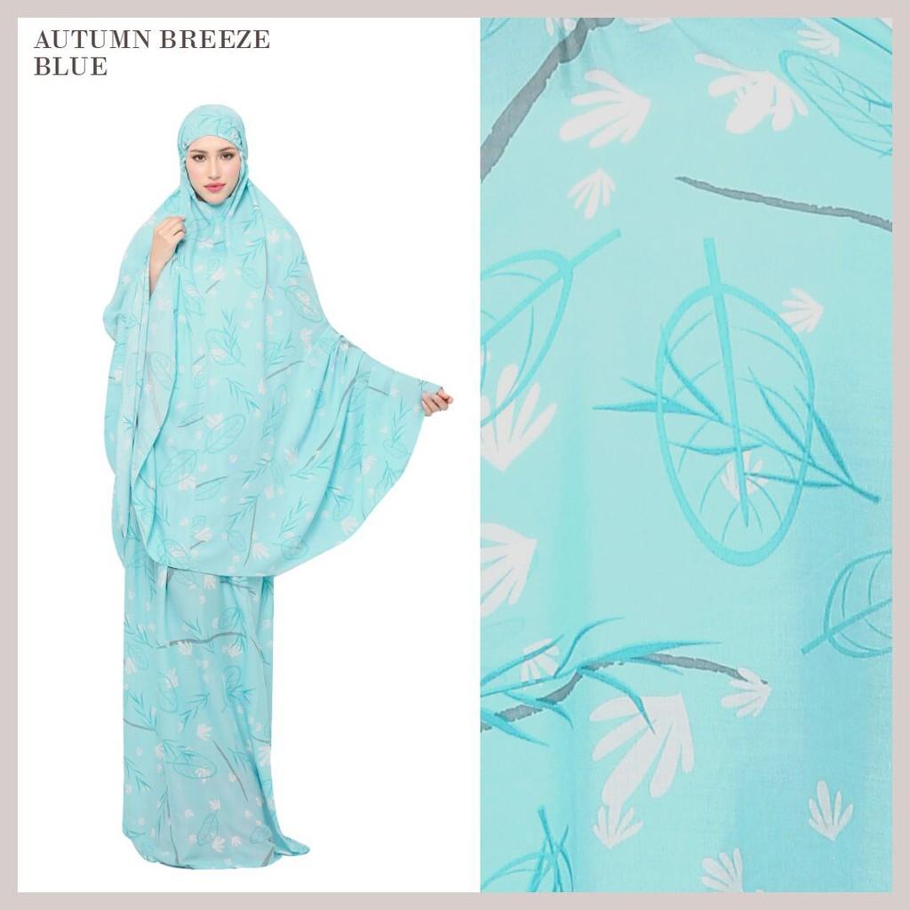 Rumahtazkia Autumn Sakura Blue Shopee Indonesia Mukena Tazkia Rayon Folksy Artwork