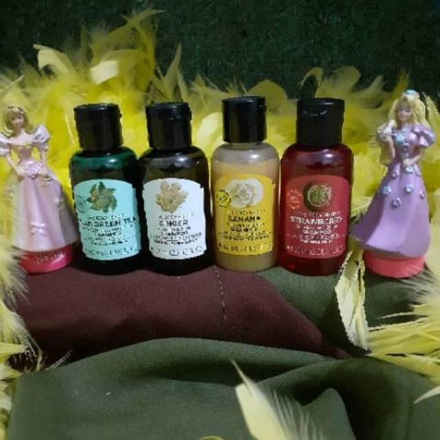 the body shop Shampoo 60ml / travel size shampoo the body shop strawberry / banana / ginger / fuji