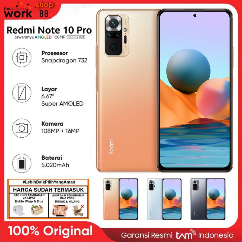 HP Baru Xiaomi Redmi Note 10 Pro Super Amoled NFC 8/128 8GB 128GB - Original Garansi Resmi Tam ✅ - Ram 6/128 6/64 6GGB