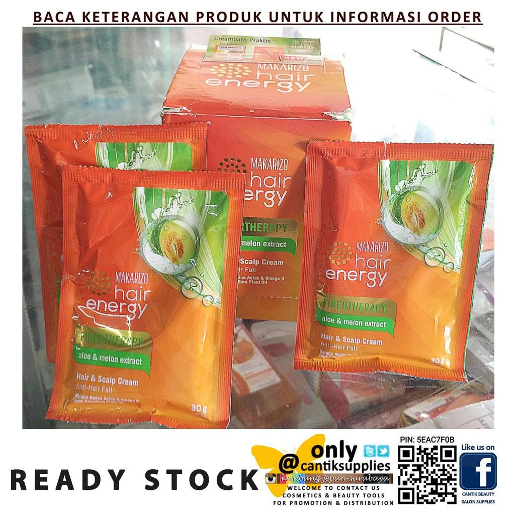 Makarizo Hair Energy Fibertherapy Sachet Besar 60gr Shopee Indonesia Creambath Aloe Ampamp Melon Extract 30 Gr
