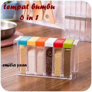 StarHome Rak Bumbu 6 in 1 Pop Up Spice Rack - Tempat Bumbu Model Bunga | Shopee Indonesia