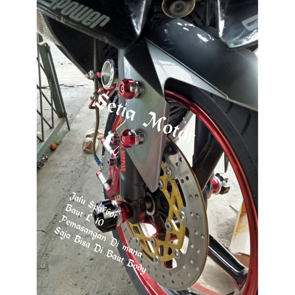 Jalu Spakbor Baut Spakbor Aerox Nmax, Ninja 250, R15, Vixion, Xabre, Mx King, Cbr 150, Satria Dll | Shopee Indonesia