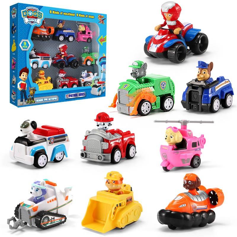 lele mainan kartun paw patrol model pull back untuk anak