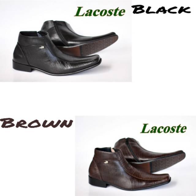 Sepatu pantofel Lacoste kulit  83745ac915