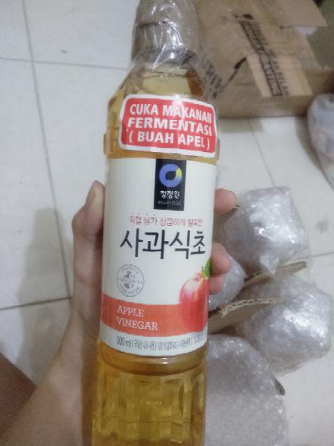 Daesang Chung Jung One Apple Vinegar Cuka Apel Korea 500ml