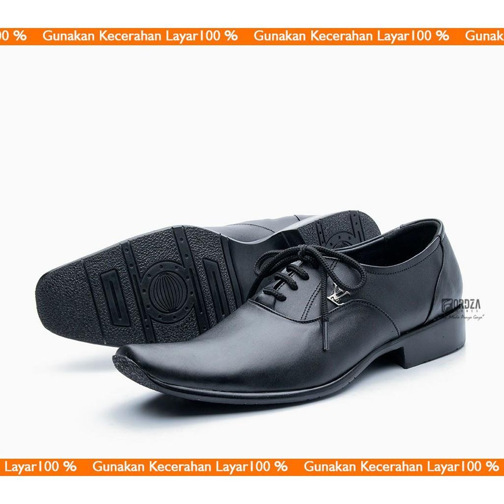 5136903f8ef BRAGA BLACK - FOOTURE FOOTWEAR - Sepatu Oxford Pantofel Kulit Formal Kerja  Hitam Klasik Pria Cowok