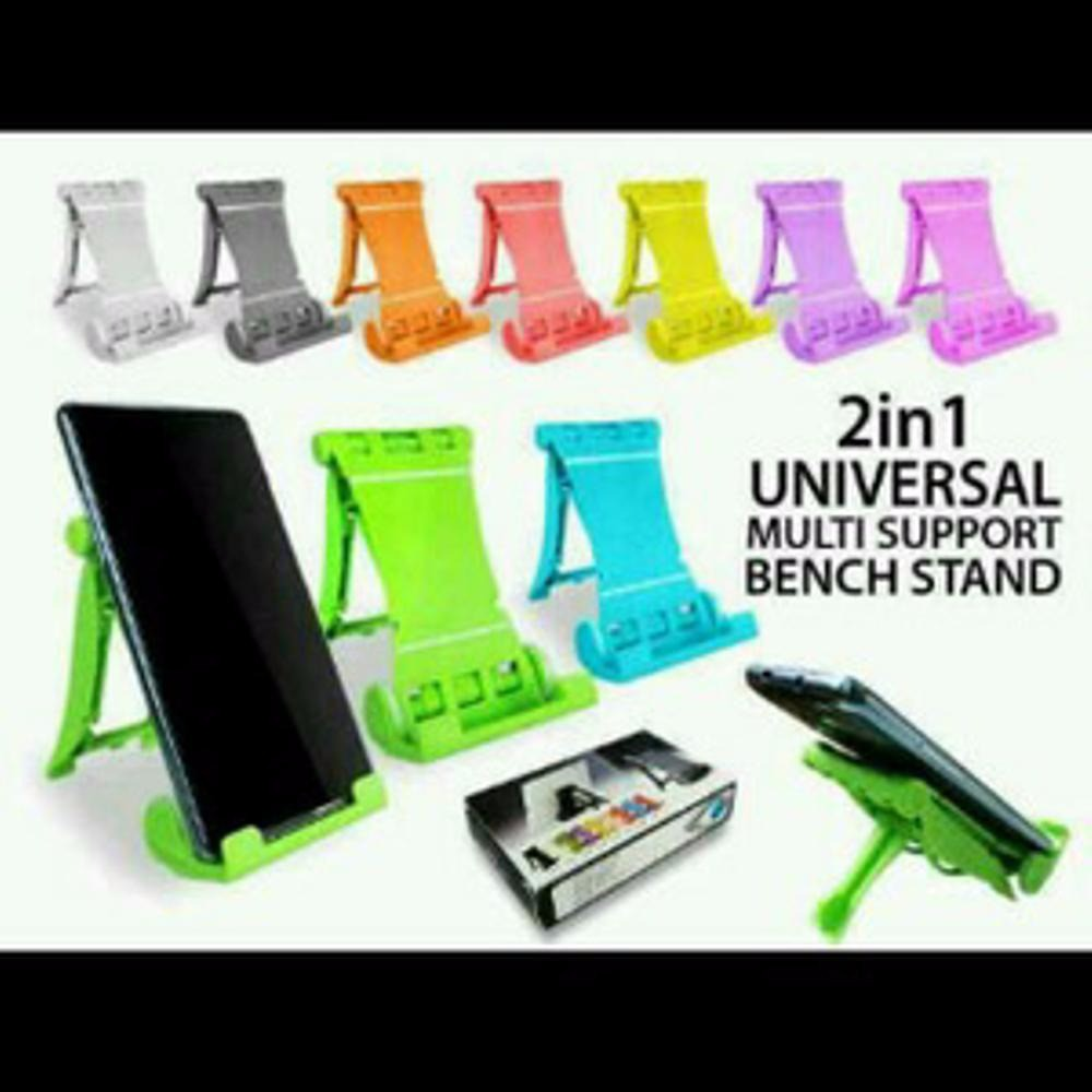 Universal Multi Support Bench Stand Hp Tempat Dudukan Hp 2 In 1 | Shopee Indonesia