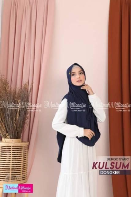 Jilbab Kerudung Hijab Bergo Syar I Kulsum Shopee Indonesia