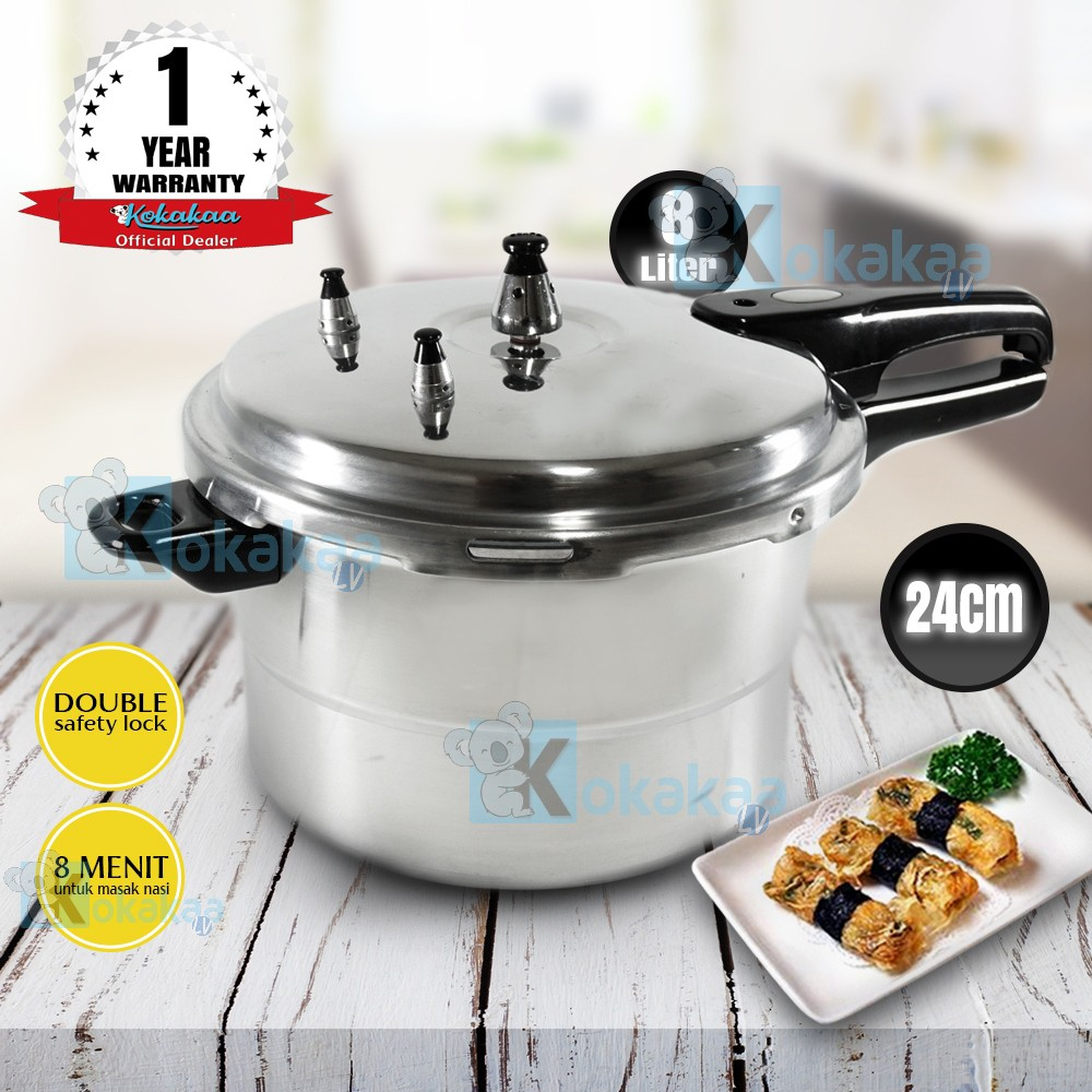 Nexia Panci Presto 24 cm Capacity 8 Liter Pressure Cooker | Shopee Indonesia