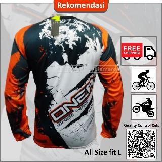Kaos Jersy Sepeda MTB Oneal OrangePakaian Bersepeda Baju