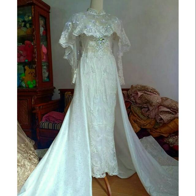 Gaun Pengantin Modern Model Duyung Warna Putih