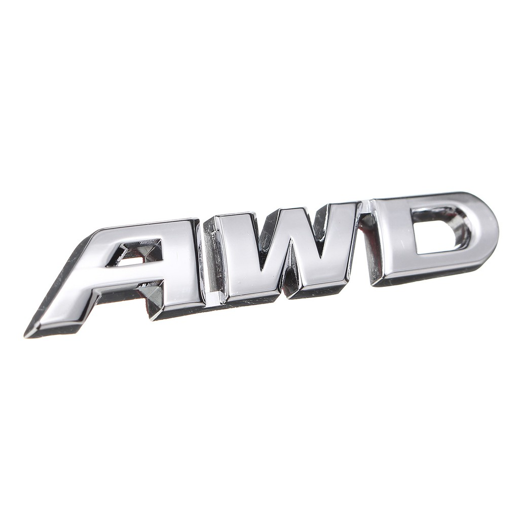 3D AWD Chrome Metal Body Emblem Car Sticker Badge 4 Wheel Drive SUV Off Road