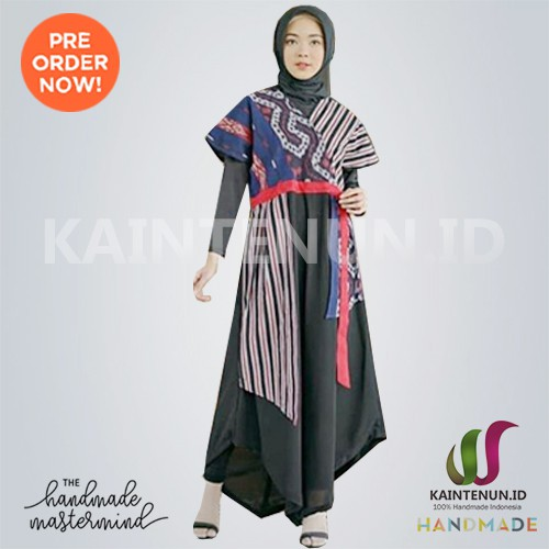 Dress Batik Wanita Kain Tenun Ikat Blanket Troso Kombinasi Drs021 Shopee Indonesia