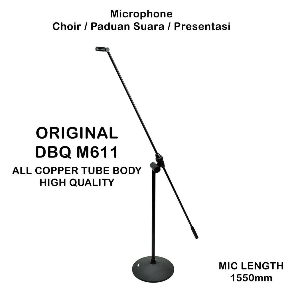 Mic Choir DBQ M611 Floor Stand Microphone Paduan Suara Speech ORIGINAL