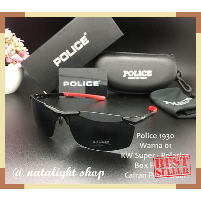 Kaca Mata Sunglasses Pria Police P1930 Sporty Mewah Elegan Polarize Q69  premium  6e31422948