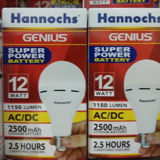 Lampu Led Emergency/Darurat/Cas/Magic 12 Watt Hannochs Genius | Shopee Indonesia