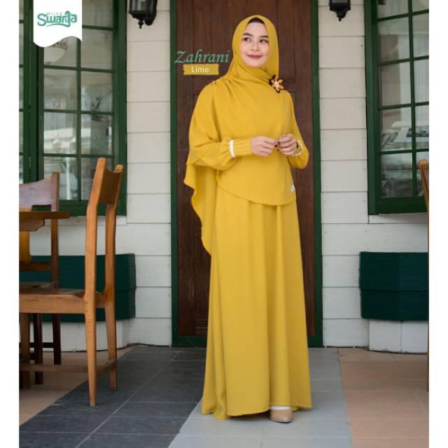 Gamis Zahrani Lime By Swarga Hijab Gamis Syari Gamis Terbaru Gamis Polos Gamis Muslimah Shopee Indonesia