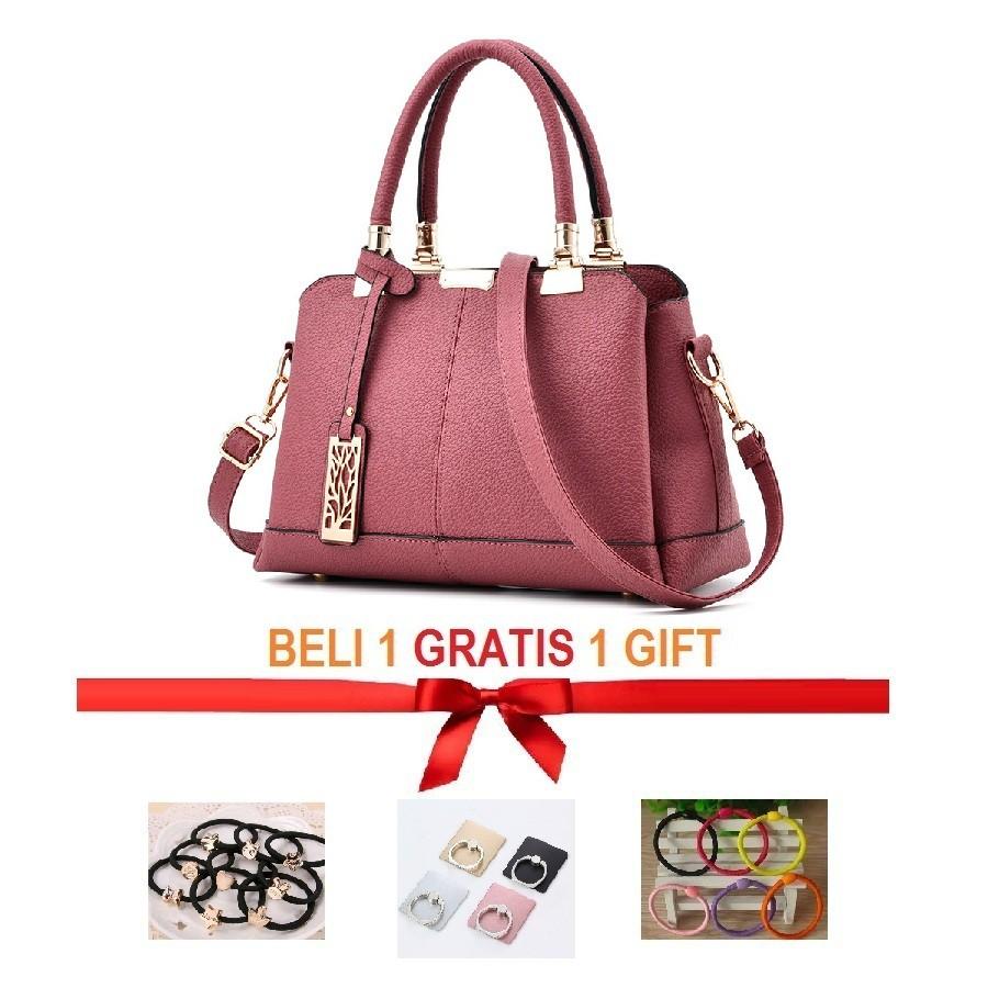 Tas Handbag   Casual Wanita GARUCCI Coklat COMB 37x12x23 VIROTEX FS 3262  934a6f43b1