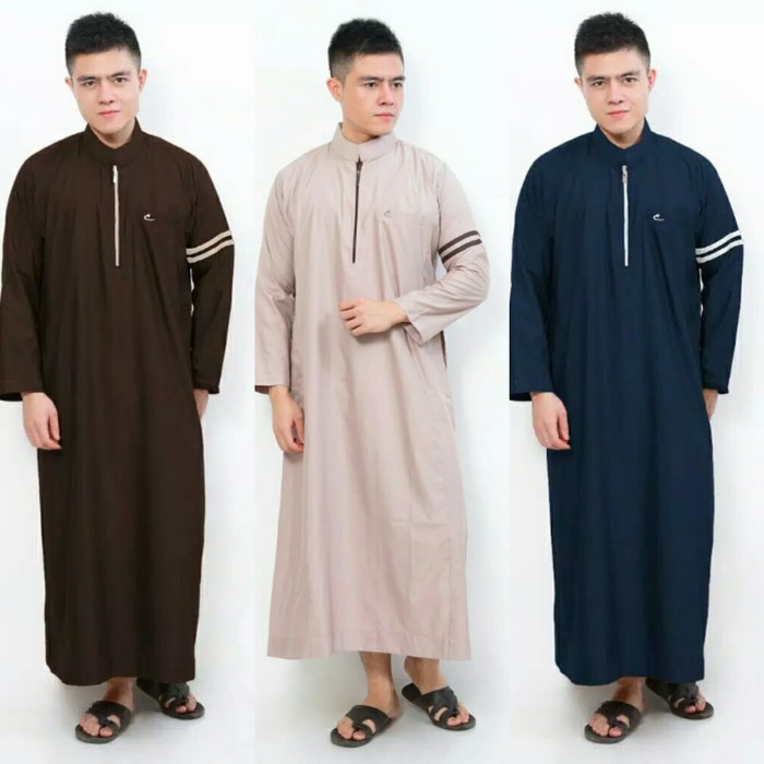 Baju Muslim Gamis Pria Jubah Warna Nabawi Al Isra Shopee Indonesia