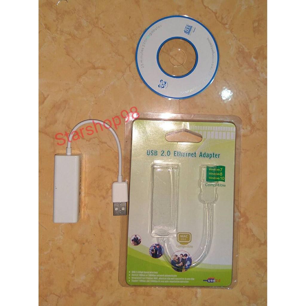 Usb Lan Adapter To Ethernet Rj45 Shopee Indonesia Biru