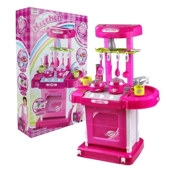 Mainan Anak Edukasi Kecerdasan Notebok 2 Bahasa Barbie Terbaru 3 Uy318 Kitchen Set Masak Masakan Mai Shopee Indonesia