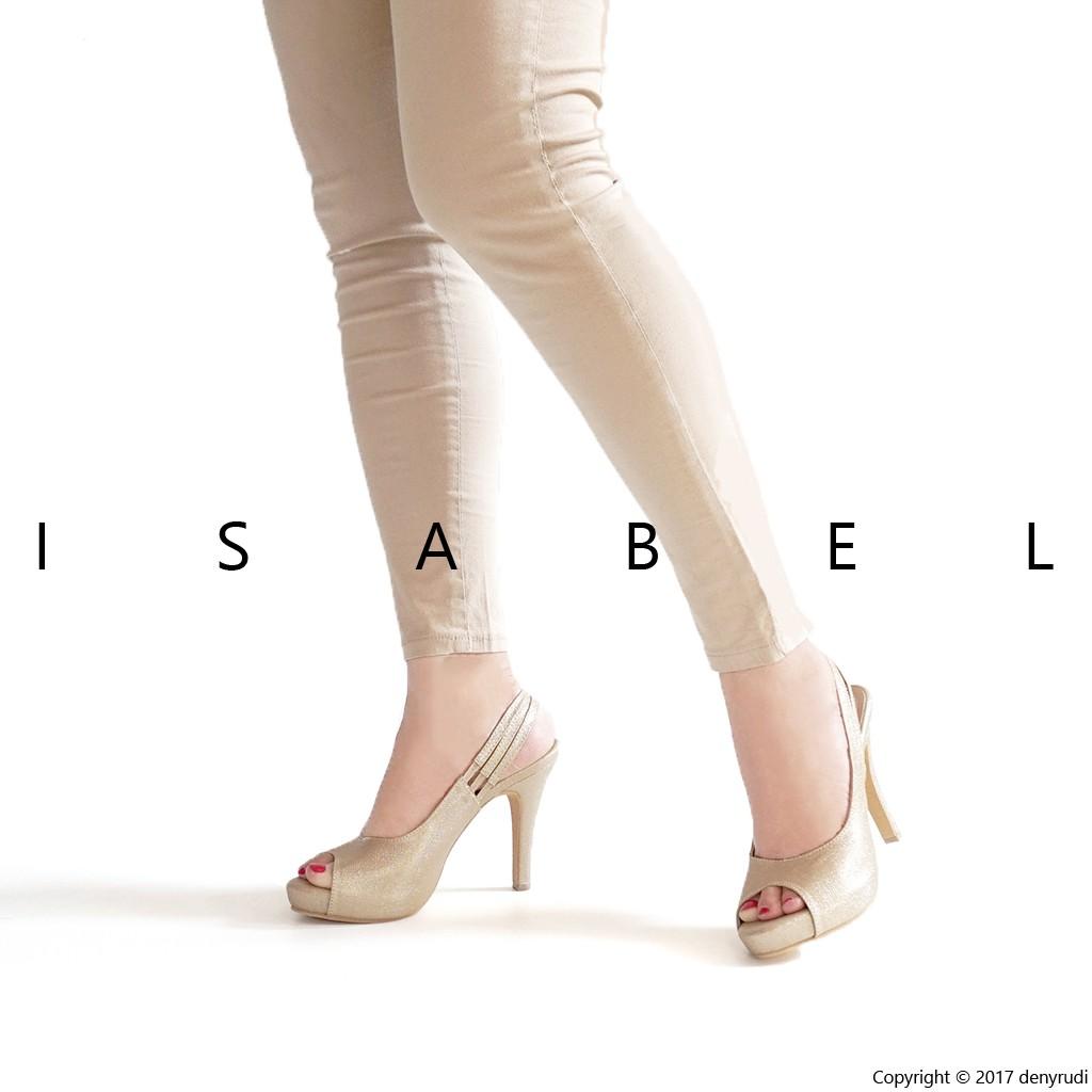 Isabel Adelia - COURT PUMP Heels Wanita Hitam Moka Tan | Shopee Indonesia