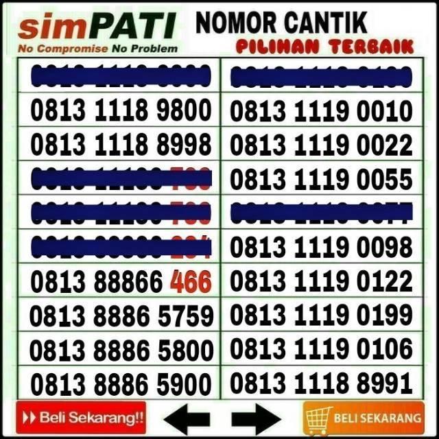 Perdana nomor cantik 11 digit simpati telkomsel Couple murah mudah dihapal | Shopee Indonesia
