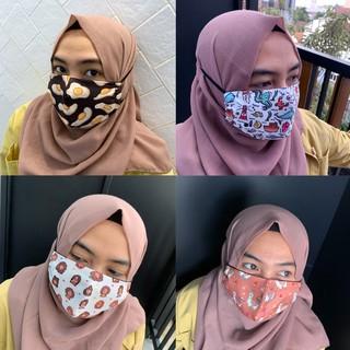 Masker Kain Cute / Masker Kain Desain Lucu / Masker Katun ...
