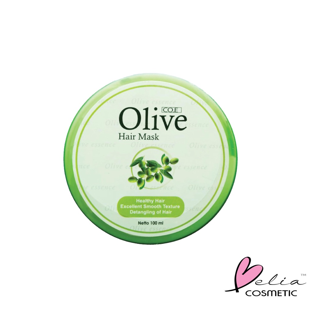 ❤ BELIA ❤ CO.E Olive Hair Treatment | Shampoo | Conditioner | Tonic | Shampo SYB (✔BPOM)-OLIVE H.Mask 100ml