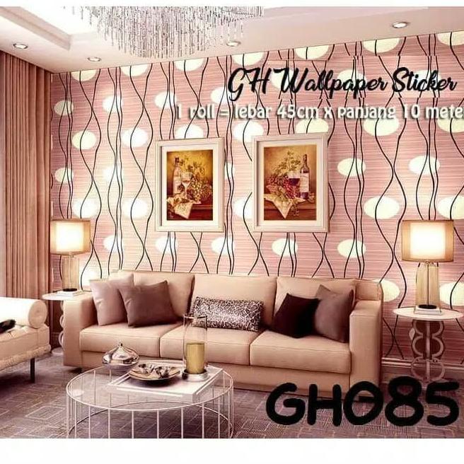 Segera Dapatkan Wallpapper Dinding Motif Bulat Coklat Gh085 45cm X 10m