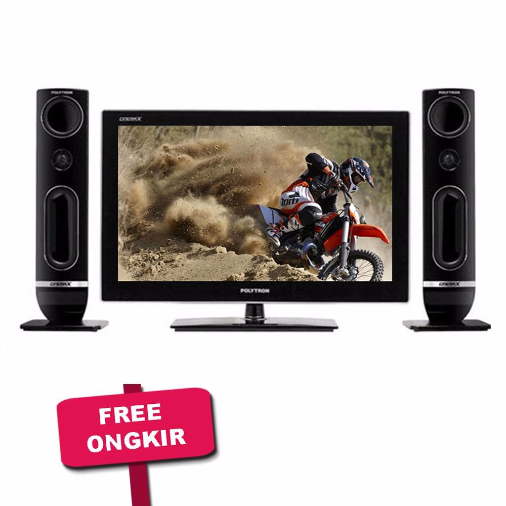 Polytron Led Tv Pld 32inc 32d100 Hitam Free Ongkir Area Showcase 3 Rak Scn 141 Putih Jabodetabek Shopee Indonesia