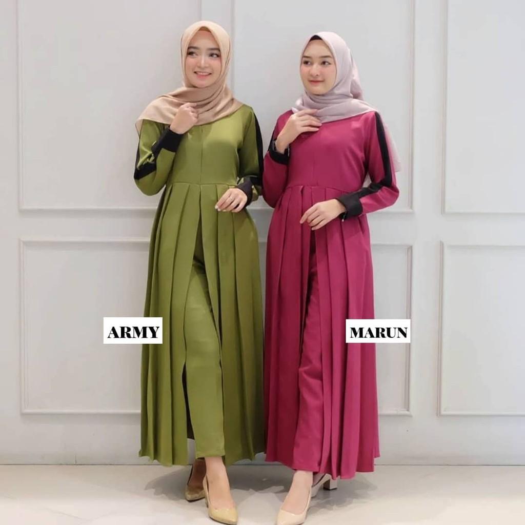 ANHA SET MC Moscrepe Baju Setelan Wanita Kekinian Style Modern Dan Trendy  Baju Setelan Model Casual