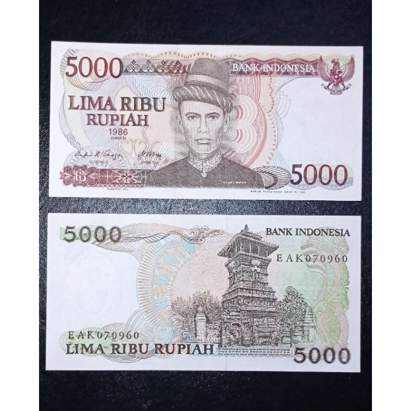 gress uang kuno 5000 rupiah tengku umar tahun 1986 bukan 5000 penjala bukan 5000 sudirman