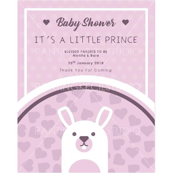 Undangan Baby Shower Kartu Ucapan Kelahiran Bayi Undangan Aqiqah