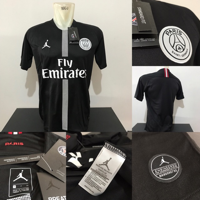 d408a6efe119c0 Jersey PSG Jordan GK Merah 2018 2019 name player Buffon + Patch UCL ...