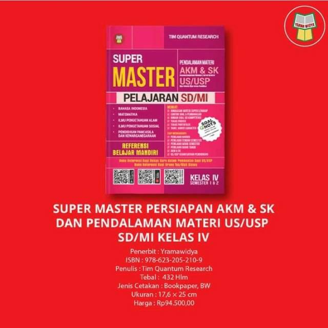 Buku Soal Sd Super Master Persiapan Akm Sk Dan Pendalaman Materi Us Usp Sd Mi Kelas Iv Shopee Indonesia