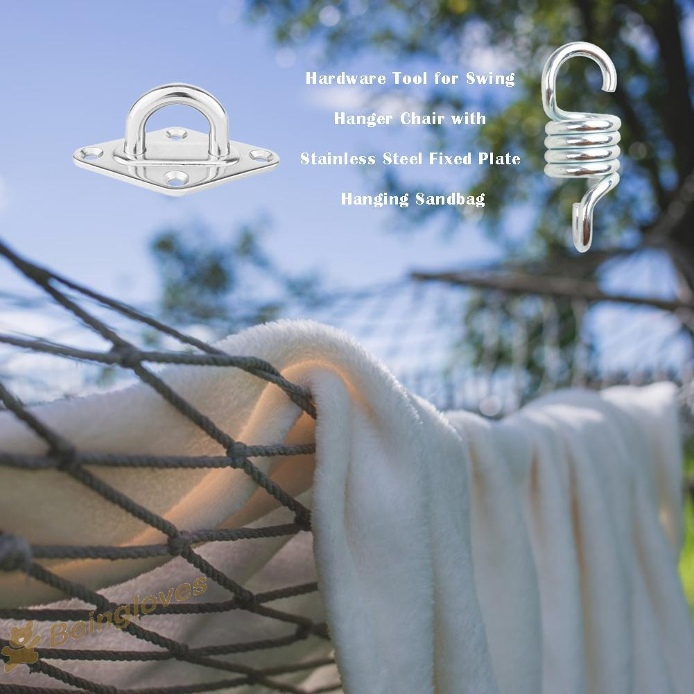 Be Id Hammock Chair Hanging Accessories Kit Spring Swivel Hooks Ceiling Mounted Shopee Indonesia